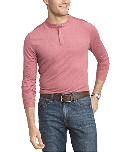 IZOD Mens Cool Fx Henley Shirt, Red, XX-Large