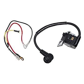 Reemplazo del módulo de la bobina de encendido para STIHL 021 023 025 MS210 MS230 MS250 Bujía de encendido con cables de instalación - Negro: Amazon.es: ...