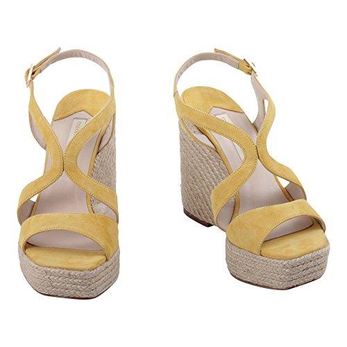 PALOMA Chaussures Cuir Jaune BARCELÓ Compensées FECOSUY1 Femme 4T4wX