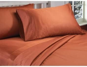 1200 THREAD COUNT EGYPTIAN COTTON BRICK RED SOLID SHEET SET EXTRA DEEP POCKET