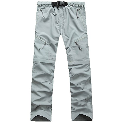 Men Mountain Pants Convertible Lightweight Outdoor Sports Quick Dry Cargo Trousers for Hiking Fishing Camping