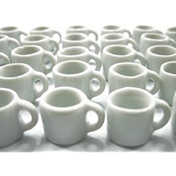 "Dollhouse Miniature Ceramic /""Limoges Look/"" Tea or Coffee Set w//4 Matching Mugs"