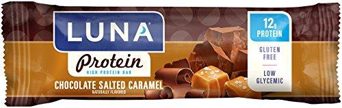 LUNA PROTEIN - Gluten Free Protein Bar - Chocoalte Salted Caramel - (Luna Fiber)