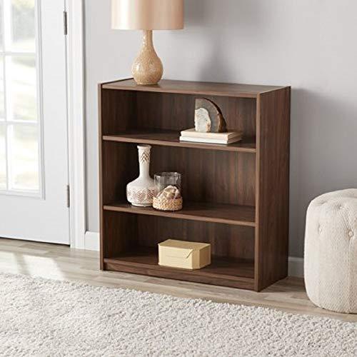 Mainstay` Orion Wide 5-Shelf Bookcase (Black, 5-Shelf) (Walnut, 3-Shelf Standard) ()