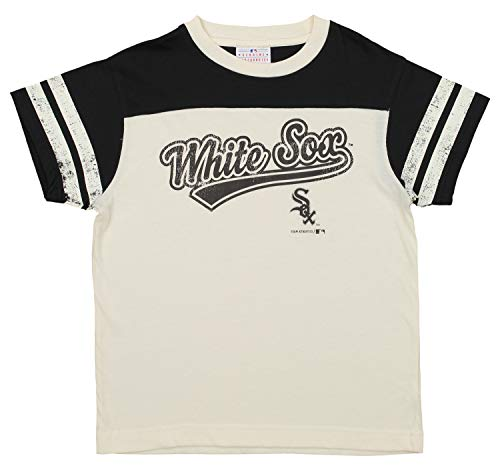 Outerstuff MLB Youth's Chicago White Sox Short Sleeve Vintage Tee, White Medium (8)