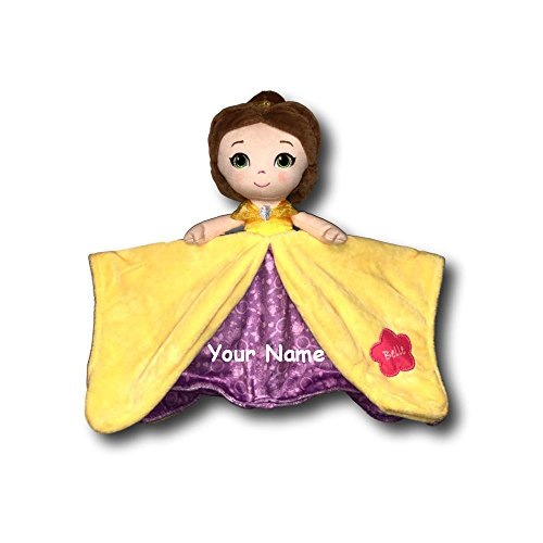 Kids Preferred Personalized Disney Beauty and The Beast Princess Belle Baby Blanky Blanket - 12 Inches