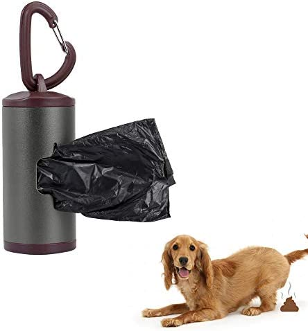 Bedler Bunter Haustier Poop Halter-Hundeabfall-Zufuhr-Aluminiumlegierungs-Schlauch schließt die nachfüllbaren Beutel des Abfall-15pcs EIN Haustier Poop Tasche