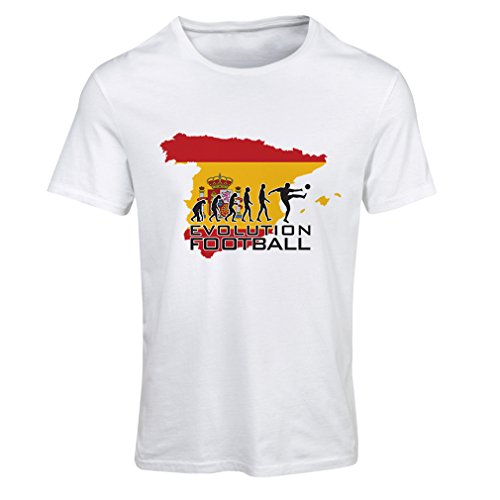 fan products of lepni.me N4497F T Shirts For Women Evolution Football - Spain (XX-Large White Multi Color)