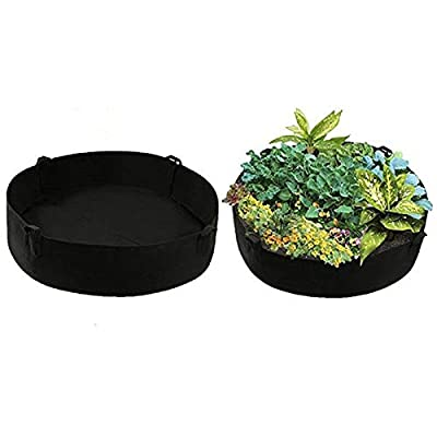 Koensky Extra Large Fabric Raised Planting Bed, Growing Bag Round Raised Planter Garden Bed Bag for Herb Flower Vegetable Plants : Garden & Outdoor