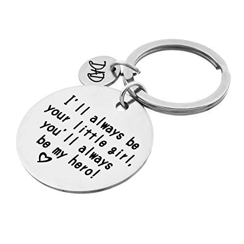 QICI-Fathers-Day-Gift-keyrings-Daughters-Gift-to-Dad-Ill-Always-Be-Your-Little-Girl-You-Will-Always-Be-My-Hero-Keychain-Stainless-Steel-1