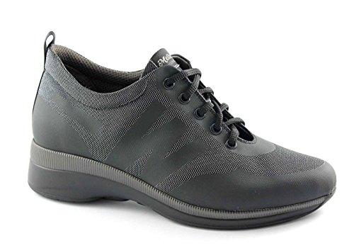 R0252 MELLUSO sport femme de de Nero WALK TECNO confort coin anthracite chaussures 56xSwFqc6O
