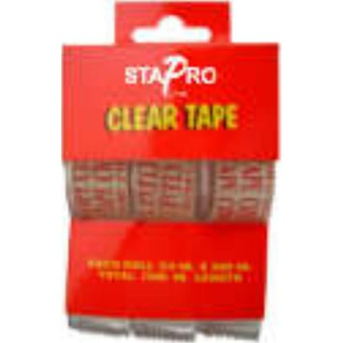 Bulk Buys Clear Tape - 3 Pack - Case of 72