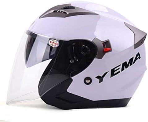 NJ ヘルメット- オートバイ電動ヘルメット男性と女性四季ユニバーサルダブルレンズ防曇ヘルメット (色 : Sub black, サイズ さいず : 33x26x26cm)