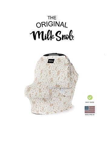 DISNEY COLLECTION The Original Milk Snob Infant Car Seat Cover and Nursing Cover Multi-Use 360° Coverage Breathable Stretchy Bambi