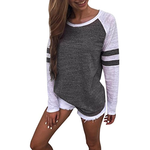 Clearance Todaies Autumn Women Long Sleeve Splice Blouse Tops Ladies Clothes T Shirt