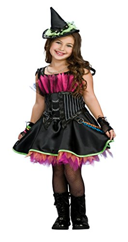 [Girls Rockin' Out Witch Kids Child Fancy Dress Party Halloween Costume, S (4-6)] (Girls Rockin Witch Costumes)