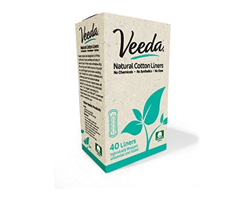 Veeda Natural Cotton Liners (Pack of 20)
