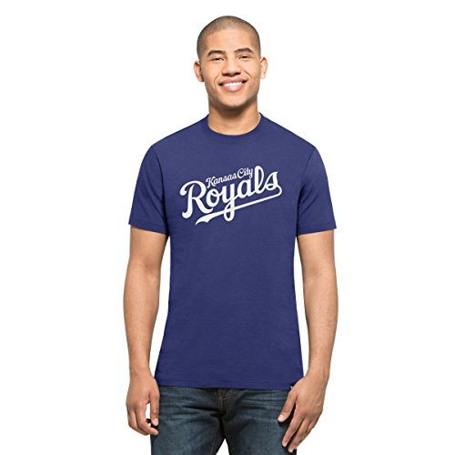 ('47 MLB Kansas City Royals Men's MVP Splitter Tee, Royal, Medium)