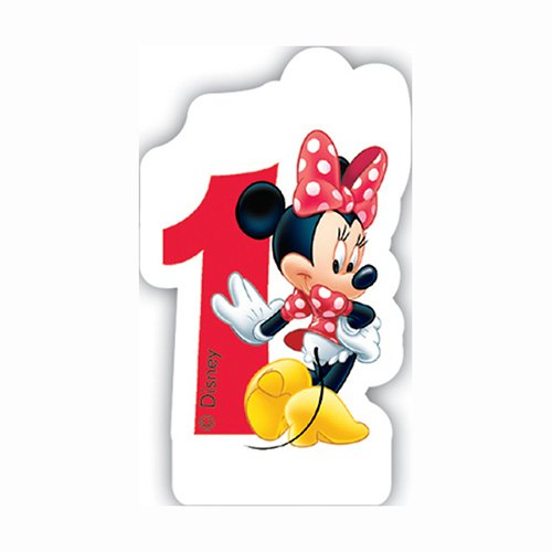 Minnie Mouse Number 1 Shaped Birthday Cake Candle by Disney (Image #1)