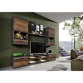 trendteam smart living Wohnwand – 5-teilige Set Kombination Mango mit viel Stauraum