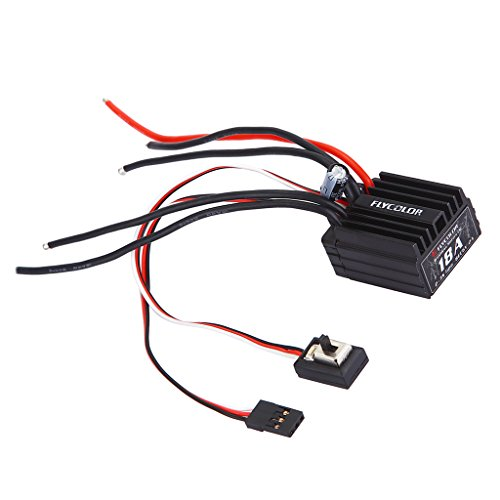 rproof 18A Brushless ESC Speed Controller for 1:18 1:16 RC Remote Control Cars ()