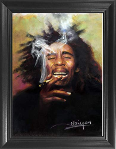 Bob Marley Framed 3D Lenticular Picture - 14.5x18.5 - Unbelievable Life Like Framed 3D Art Pictures, Lenticular Posters, Cool Art Deco, Unique Wall Art Decor, with Dozens to Choose from!