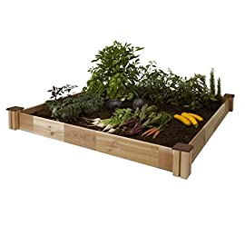 "CedarCraft Raised Cedar Garden Bed (49"" X 49"" X 10""H) - Grow Fresh Vegetables, Herb Gardens, Flowers & Succulents. Beautiful Elevated Garden Bed for Your Yard and Home Gardening. No Tools Required. 7 <p>Easily add a beautiful raised garden bed to any yard. Perfect for growing deep root vegetables, herbs or your favorite flowers. Raised garden kit ships complete in a single box and includes easy to follow instructions. The raised bed can be assembled in minutes and no tools required! Product Details Outside dimensions: 34"" W x 34"" L x 6"" H Planting area: 32"" W x 32"" L x 5.3"" H Soil capacity: 3.1 cu. ft. / 81 qt. BEATIFUL RAISED GARDEN BED can easily be added to any yard. Multiple expansion options available PERFECT GROWING ENVIRONMENT for highly productive and happy plants GROW YOUR FAVORITE flowers, deep root vegies, tomatoes or herbs. Enjoy garden fresh flavors NO TOOLS REQUIRED assembles in minutes 100% WESTERN RED CEDAR is untreated and naturally rot and insect resistant. Sustainably grown SFI certified wood. Made in Canada</p>"
