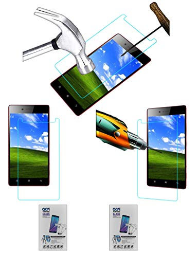 Acm Pack of 2 Combo Tempered Glass Screenguard Compatible with Lenovo Vibe Shot Z90a40 Mobile Screen Guard