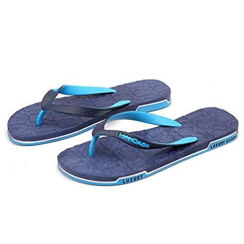 Pantofole Qianliuk da Summer Casual Beach Infradito Uomo Blu Sanadls Zxnpgx