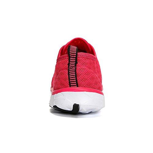 Wqinshoe Mens E Womens Mesh Slip On Aqua Water Shoes Asciugatura Rapida Sportivo Sportivo Sportivo Sneakers Con Occhiali Da Sole Rosa Con Occhiali Da Sole