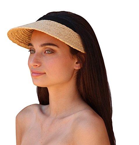 Palms & Sand Women's Raffia Sun Visor - Palms Online