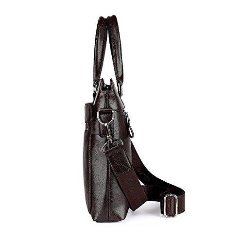 Männer Arbeit Aktentaschen Herren Taschen Messenger Bags Vintage Business Casual Schultertasche Büro Brown YRl0Df0