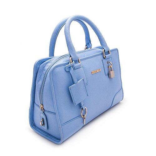 A 30x20x14 Cuir Pochette Sac Pour Main Marine Cm Femme Bandouliere Sacoche Bleu Zerimar Naturalle Couleur Premium Céleste Mesures qwUx1YYtZ