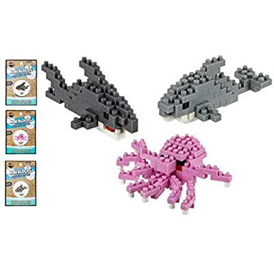 -(3 Sets) 170 Piece Ocean Building Block Set! Shark- Octopus- Dolphin Set: Creative Activities, Prizes, Gifts, Birthday Party Favors & More!: Toys & Games