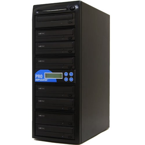 Produplicator Samsung 24X 1 to 7 CD DVD Duplicator (with Nero Essentials Burning Software) - Standalone Disc Duplication Tower