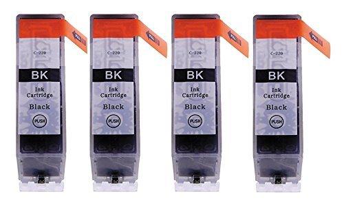 K-Ink PGI 220 Black Ink Compatible Replacement Cartridges (4 Large Black)