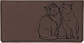 Purrfect Love Laser Engraved Leatherette Checkbook Cover