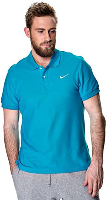 Nike Polo SS Piqué de Color Turquesa - S, Azul: Amazon.es: Ropa y ...