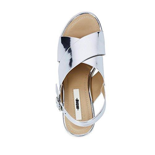 Para Mujer Abierta Punta mirror Plata Sandalias Plexy Mtng Plateado Con tIYXgq