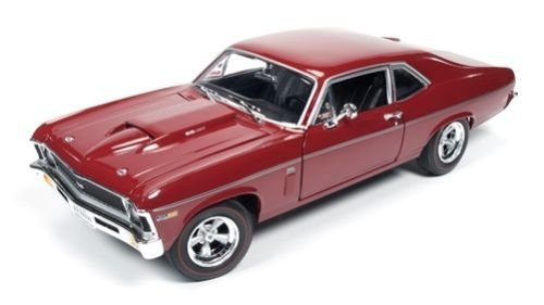 1969 Chevrolet Nova SS 427 Garnet Red Baldwin Motion Limited Edition to 1002pc 1/18 by Autoworld AMM1073