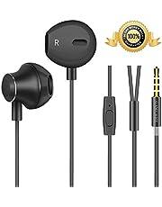 Auriculares, Auriculares con Micrófono,Auriculares Cable, Sonido Estéreo y Cancelación de Ruido, Compatibles con Android,PC