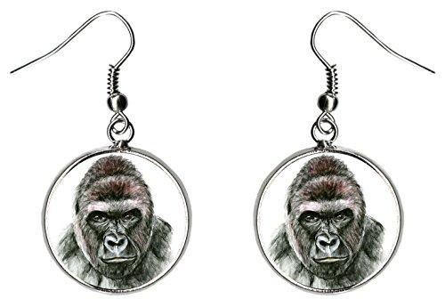 Gorilla Silver Hypoallergenic Stainless Steel Earrings