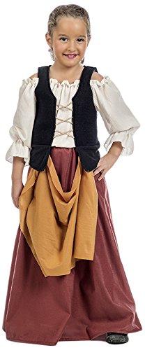Traje medieval campesino niña de 2 PC. blusa falda con corpiño: Amazon.es: Juguetes y juegos