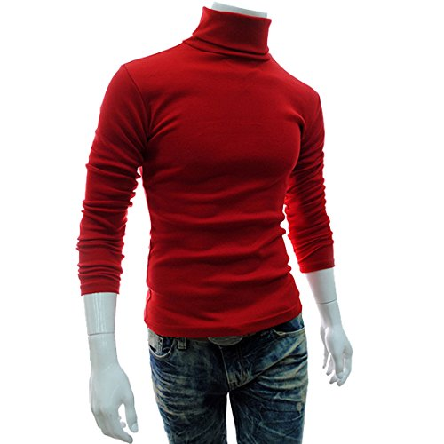 FCYOSO Mens Slim Fit Soft Cotton Blend Turtleneck Pullover Sweater (US,XL/Asia,2XL) (Aynsley Henley)