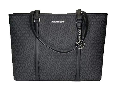 Print Shoulder Bag - Michael Kors Large Sady Carryall Shoulder Bag (MK Print/Black)