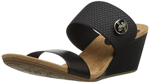 Black Women's Lindsay Wedge Sandal Emily Phillips wq8q7HgY