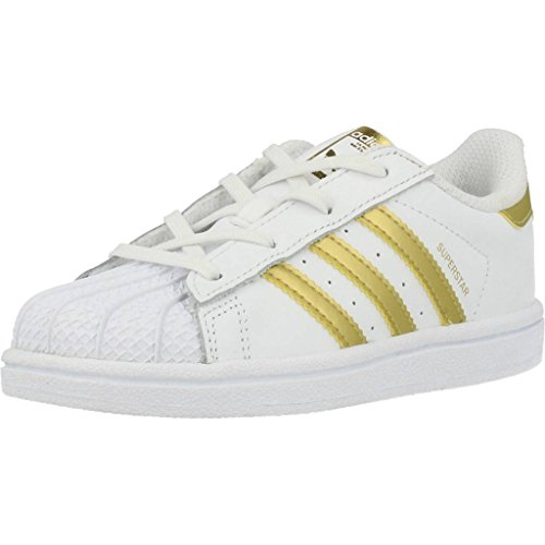 adidas Originals Superstar I Kleinkind-Sneaker BB7081 White/Gold Metallic Gr. 19 (UK 3K)