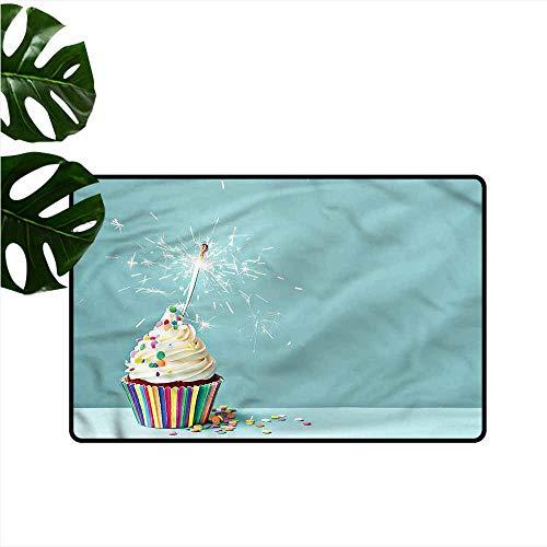 Waterproof Door mat Cupcake Creamy Sprinkled Frosting Antifouling W35 xL47