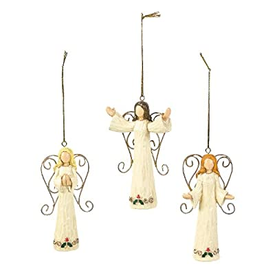 Angel Ornaments - Christmas Decor - Set of 12