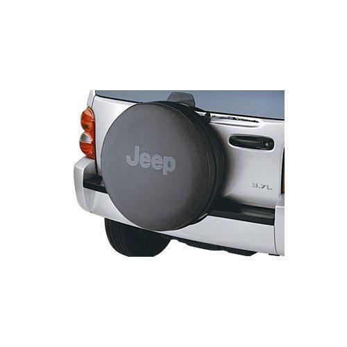 Jeep P215/75R16 Mopar Anti Theft Spare Tire Cover W/ Black Jeep Logo